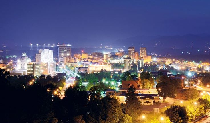 Downtown Asheville. Image: Ayana Dusenberry