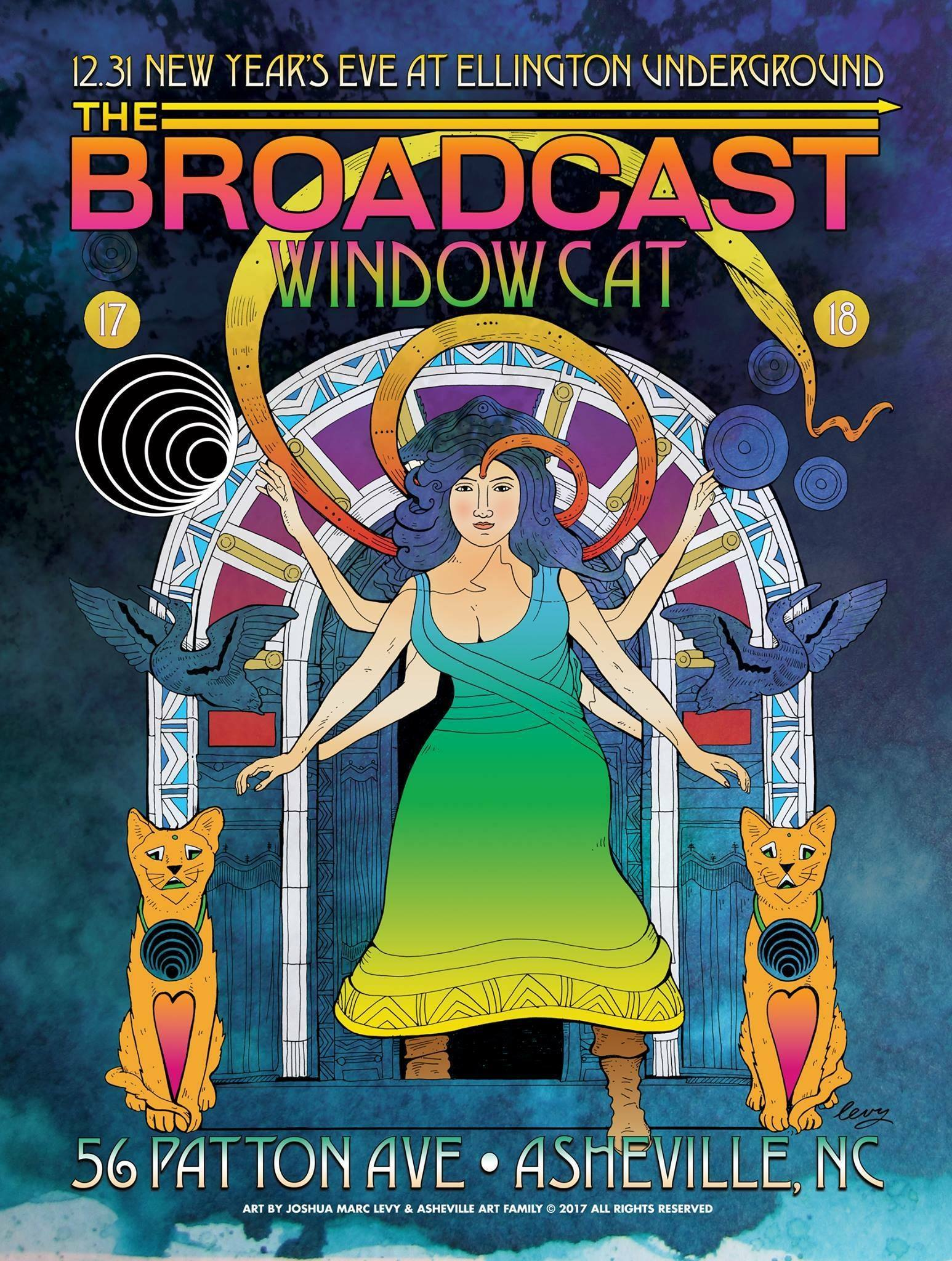 Broadcast and Window Cat on NYE. Image: Joshua Marc Levy