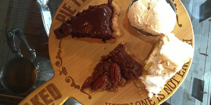 Baked pie flight