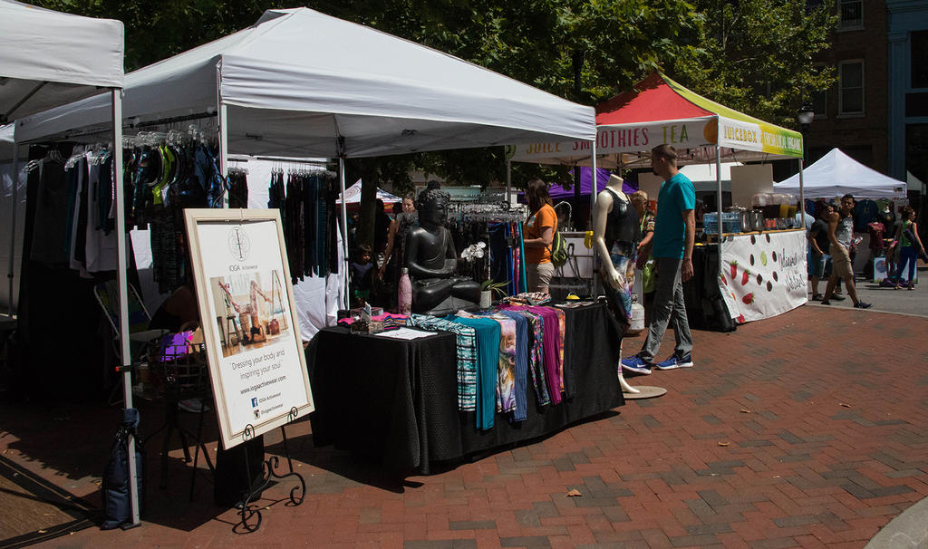 The area around Vance Memorial was the weekend's Wellness Village
