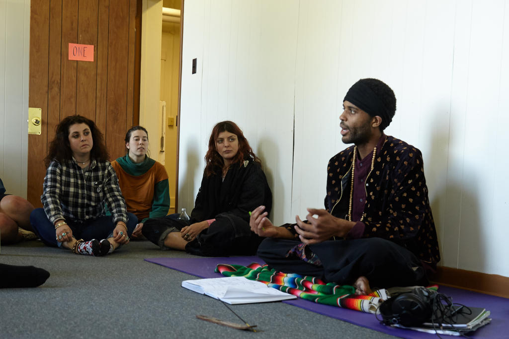 Khonsu Ra's class, The Dreamtime Paradox Solution Incubator. Photo by Suzi Sadler