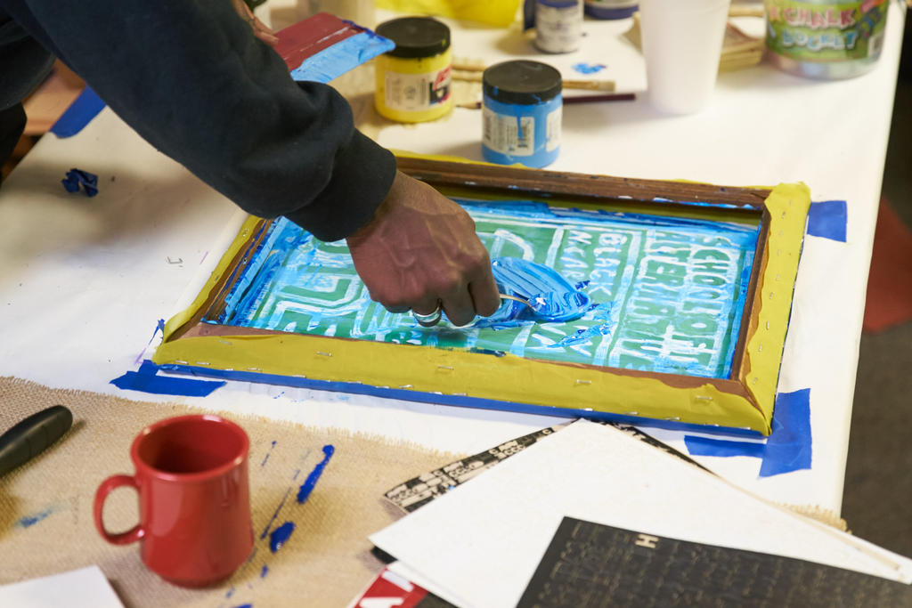 Taken during a screenprinting Gas Class. Photo by Suzi Sadler