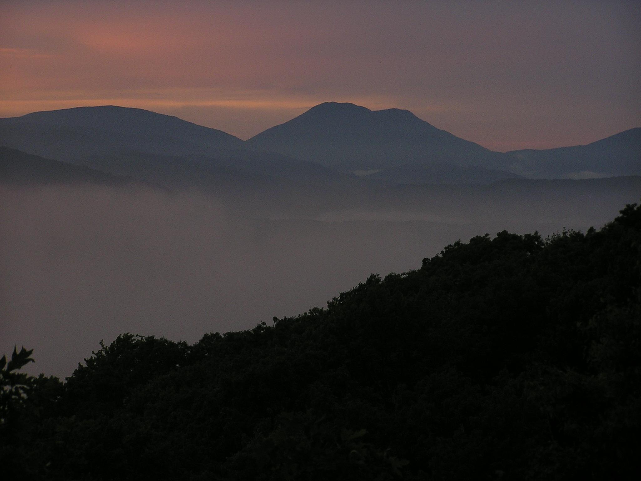 Snake Mountain at Sunset. Photo: Justin Lonas (2005)