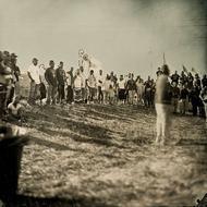 Dakota Access Pipeline Native American protest site, on Highway 1806 near Cannonball, North Dakota, August 15th, 2016. NODAPL! Photo: Shane Balkowitsch