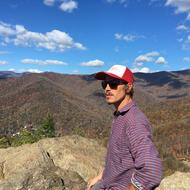 Drew Powell at the top of Lookout Mountain in Montreat, NC
