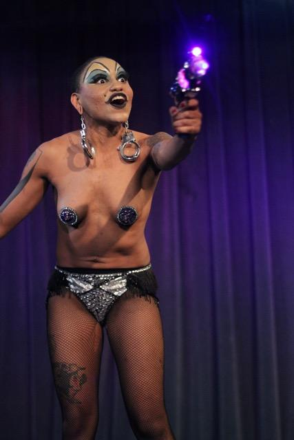 "Lune Noir performing a ""Female Troubles"" inspired burlesque piece - April 2016"
