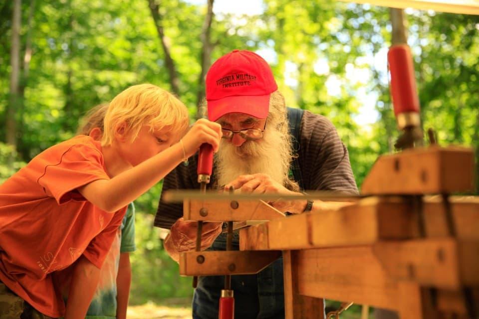 John Krauss with a student