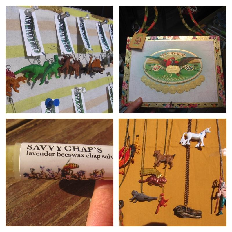 Kate Savkovich (pumpupthejam) - jewelry made from toys and found objects, chapsticks, cigar box purses